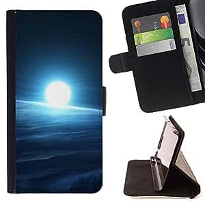 """Cold Sun espacio"""" Colorida Impresión Funda Cuero Monedero Caja Bolsa Cubierta Caja Piel Id Credit Card Slots Para Sony Xperia Z1 L39"""