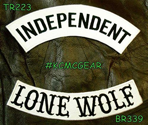 Independent Lone Wolf Rocker Patches Set for Biker Vest (Patches Vest Wolf)