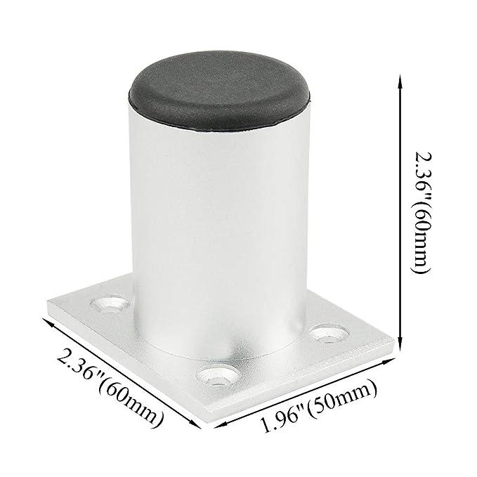 Amazon.com: TOVOT - 4 patas metálicas redondas de acero ...