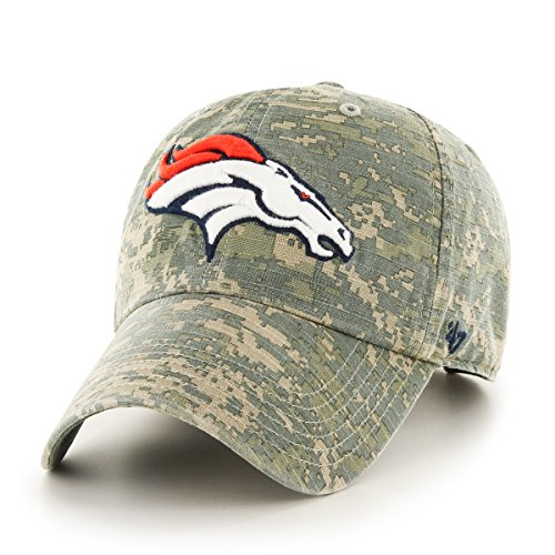 NFL Denver Broncos '47 Officer Clean Up Camo Adjustable Hat, One Size Fits Most, Digital Camouflage