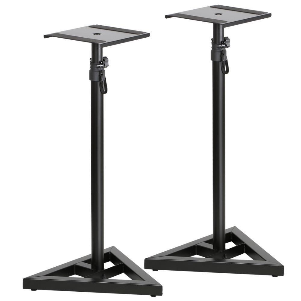 Topeakmart Club PA DJ Adjustable Monitor Metal Speaker Stands (Triangle Speaker Stand)