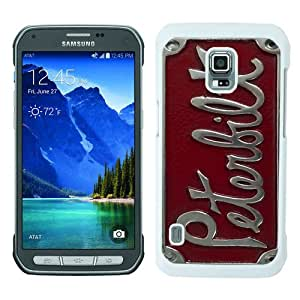 Galaxy S5 Active Phone Case,Peterbilt logo 1 White Pattern Cool Design Samsung Galaxy S5 Active Cover Case
