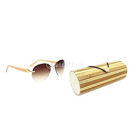 F Fityle Gafas de Sol sin Montura de Bambú Hecho a Mano de ...