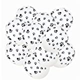 Glumes 12inches 10pcs Colorful Latex Paw Print Balloons for Paw Party