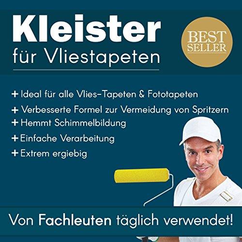 Tapetenkleister Vlies Tapete Kleister Fototapete 200g (ca. 20-24 m2) - Ideal für Fototapeten, optimales & praktisches Dosieren 4 x 50g Päckchen