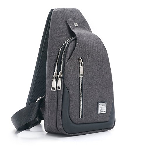 Body Bag Backpack Purse (Sling Bag Chest Shoulder Backpack Crossbody Bags for Men Women Travel Outdoors (Large black))