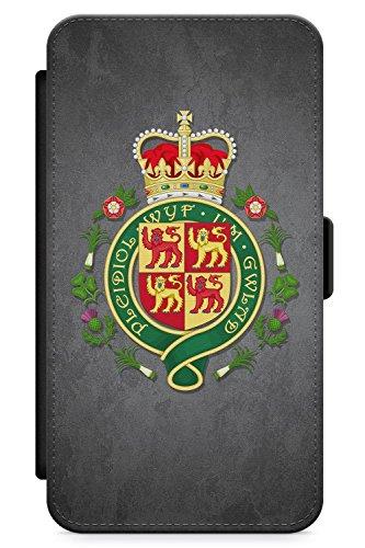 (Case Warehouse iPhone XR Case, Welsh Royal Shield Phone Case Premium Leather Flip Wallet Card Holder Slots   Slate Cymru Flag Rugby Am Byth)