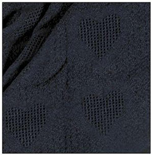 Simply Home Navy Blue Honeycomb Heart Afghan Throw Blanke...