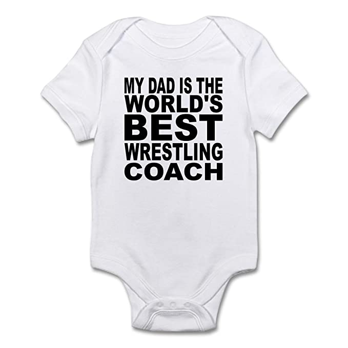 ac5b4a11ad ... Infant Bodysuit  first look 92133 12baa CafePress My Dad is The Worlds  Best Wrestling Coach Body Sui Cute ...