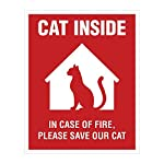 Cat Fan related Products Cat Inside Sticker – 4 Pack – 4×5 inches – Cat Alert Safety Window Sign