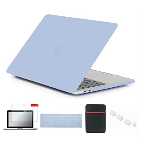 Se7enline Macbook Pro 2016/2017 Cover Soft-Touch Matte Plastic Hard Case for MacBook Pro 13 A1706/A1708 with/without Touch Bar with Sleeve ...
