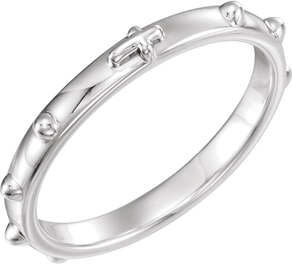 Size 7 Bonyak Jewelry Sterling Silver Band for 8 mm Cushion Ring