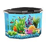 KollerCraft 6.5 Gallon Aquarium Kit with Internal Filter and LED Lighting