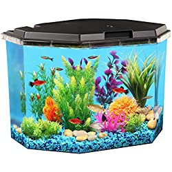 Koller Products AquaView 6.5-Gallon Fish Tank with Power Filter and LED Lighting