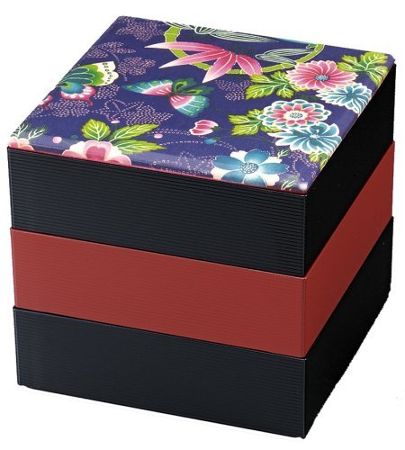 Japanese Lacquer Three Tiers Stack