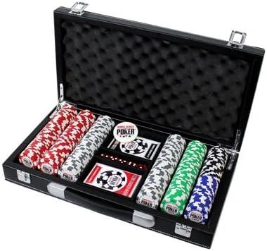 Juego de World Series of Poker Poker 300 fichas Estuche de piel: Amazon.es: Deportes y aire libre