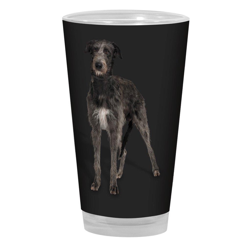 16-Ounce Black Tree-Free Greetings PG04069 I Heart Irish Wolfhounds Artful Alehouse Pint Glass