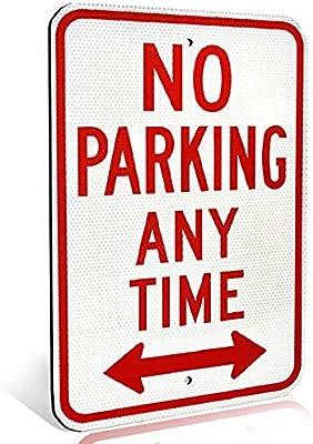 NO PARKING Warning Metal Aluminum Sign #A