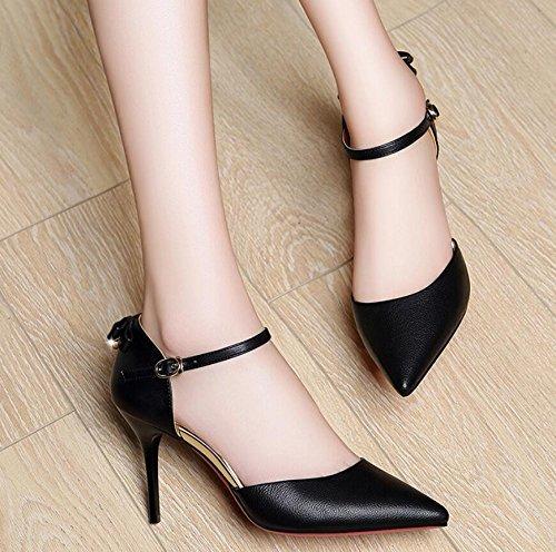 Nouveau High De Noir Trajet KHSKX Unique Chaussures De Les Avec Élégant Pointe Bien Heeled Style Femme Femmes Très 37 Chaussures Printemps 8Cm 0q5xHzg