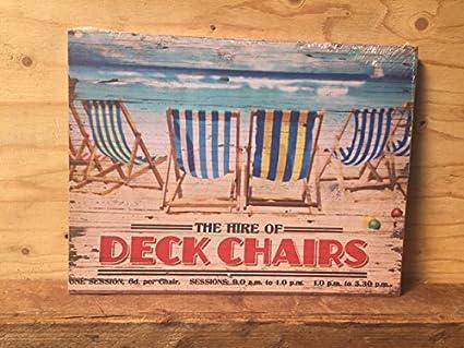 Retro costeras playa cartel de madera pared arte ~ el ...