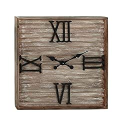 Benzara 42586 Antique Colonial Charming Wood Metal Wall Clock