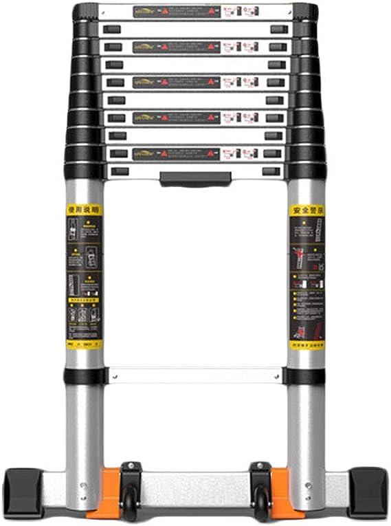 Escalera de extensión Plegable portátil Multiusos de la aleación de Aluminio de la Escalera telescópica EN131 certificada CHENGYI (Size : 1.7+1.7m): Amazon.es: Hogar