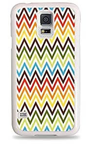 430 Colorful Chevron Stripes - White Hardshell Case for Samsung Galaxy S5