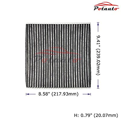 POTAUTO MAP 1068C (CF12000) Replacement Activated Carbon Car Cabin Air Filter for Chrysler, 200, Jeep Cherokee (Upgraded with Active Carbon): Automotive