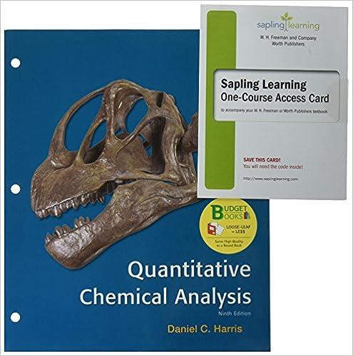 LooseLeaf Version For Quantitative Chemical Analysis E  Sapling E