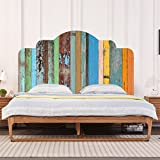 AmazingWall Colorful Wood Headboard Sticker 3D Home Decoration Bedroom Kids Room Nursery Furniture Decor Art Decal