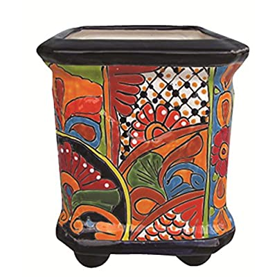 Talavera Planter with FEET (Talavera) : Garden & Outdoor