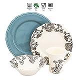 Euro Ceramica Savannah Collection 16 Piece Elegant