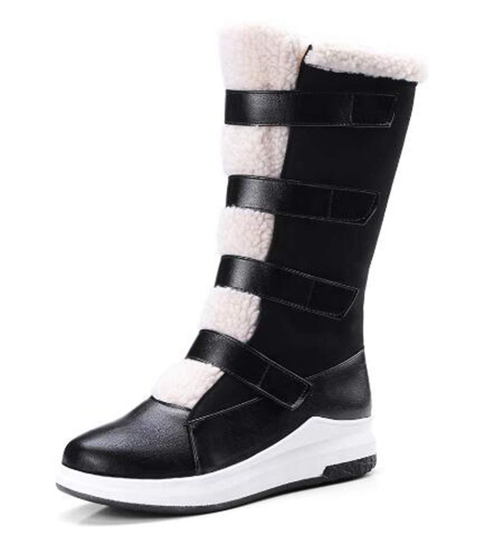 25f87feb94b17 Amazon.com: DETAWIN Women Winter Snow Boots Hook Loop Slip On ...
