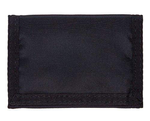 Trifold Velcro Wallet - Black Nylon (Nylon Velcro Wallet)