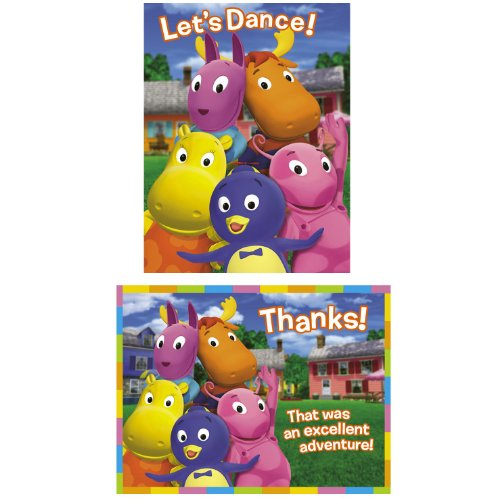 Designware Backyardigans Invite/Thank You Combo - 8 ct
