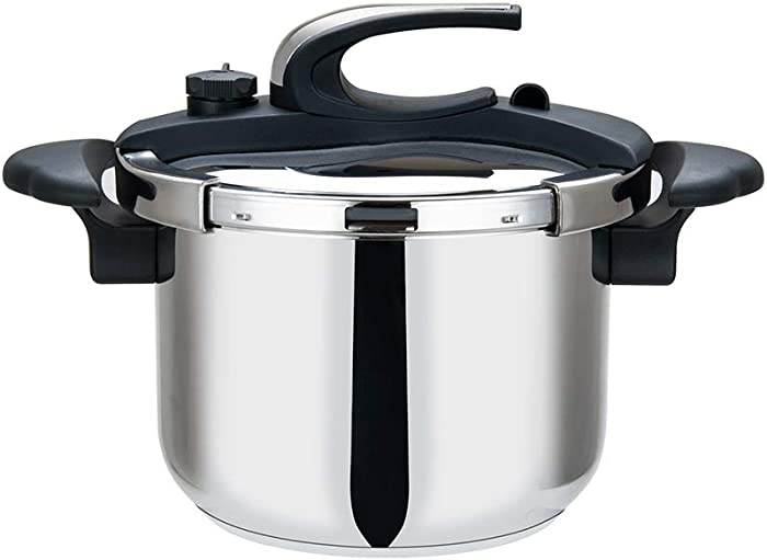 Aramco HBM101 Stainless Steel Stovetop Pressure Cooker High Speed Cooking, 8 Quart