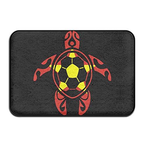 Youbah-01 Indoor/Outdoor Doormat with Vietnam Flag Soccer Sea Turtle Graphic Pattern for Hallway by Youbah-01