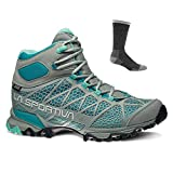 La Sportiva Women's Core High GTX Hiking Boots Grey/Mint w/Socks - 41