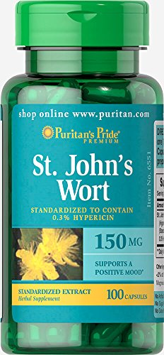 150 Mg 100 Capsules - Puritan's Pride St. John's Wort Standardized Extract 150 mg-100 Capsules