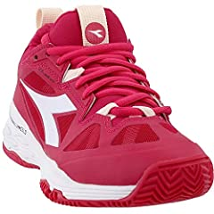 The Diadora Blushield Technology Will Boost Your Tennis Game With Total Foot Grip And Perfect Body Balance. Speed Blushield Fly 2 W Clay Is The Women's Tennis Shoe For Red Clay Courts. Upper In Suprell-Tech, Air Mesh And Dia Shield For Stabil...