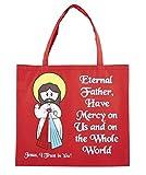 Recycled Nylon, Devine Mercy Tote Bag, 4 1/2 x 13'' H, 12pk.