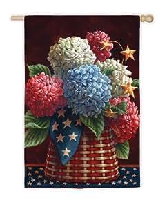 Bandera casa florecimientos patrióticas