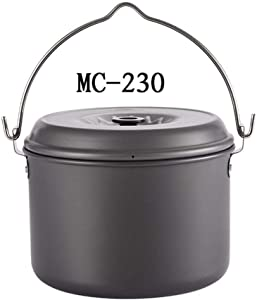 weemoment Camping Pot Cookware, Lightweight Pots, Nonstick, Portable Cooking Pot Backcountry Cookware for Outdoor Camping Hiking Fitting