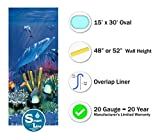 15-Foot-by-30-Foot Oval Liner | 48-to-52-Inch