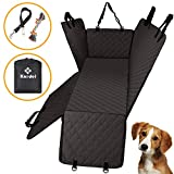 Knodel Dog Seat Cover, 100% Waterproof Car Seat Cover for Pets, Pet Seat Cover Dog Hammock, 600D Heavy Duty Scratch Proof Pet Back Seat Covers, Zippered Side Flaps for Cars, Trucks and SUVs (Black)