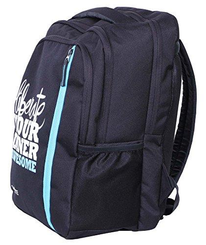 Salute 32 litros de poliéster portátil Casual College School viaje mochila bolsa Negro