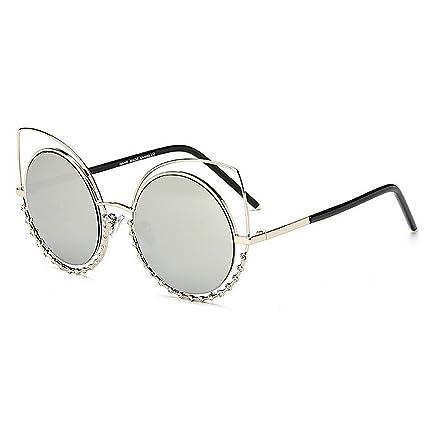 WXDH Diseño de Ojos de Gato Gafas de Sol de Cristal ...