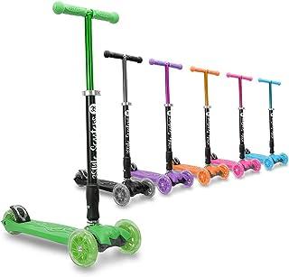 Trottinette à trois roues RGS-2 pour enfants 3Style Scooters® - Idéale pour les enfants de plus de 5 ans - avec roues à DEL lumineuses, design pliable, poignées réglables et construction légère