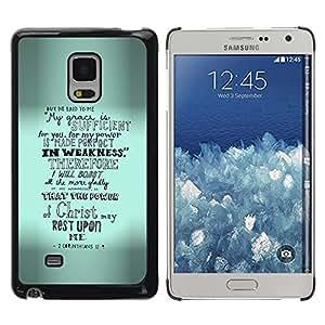 Paccase / SLIM PC / Aliminium Casa Carcasa Funda Case Cover para - Emo Inspirational Grey Text - Samsung Galaxy Mega 5.8 9150 9152