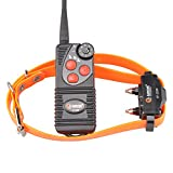 Aetertek AT-216D Waterproof Rechargeable 600 Yard Remote Dog Training Shock Collar 7 Levels,Beep,Vibrate Stop Bark E Collar (One Dog Training System)